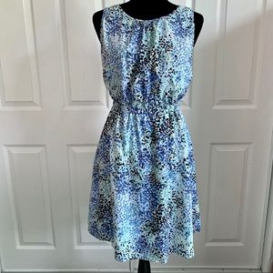 LOFT Blue Watercolor Dress